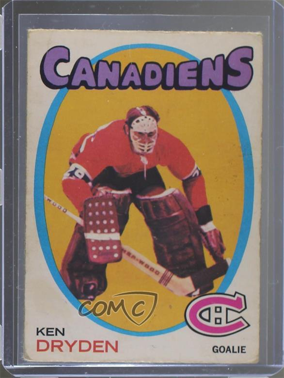 Details About 1971 72 O Pee Chee 45 Ken Dryden Montreal Canadiens Rc Rookie Hockey Card
