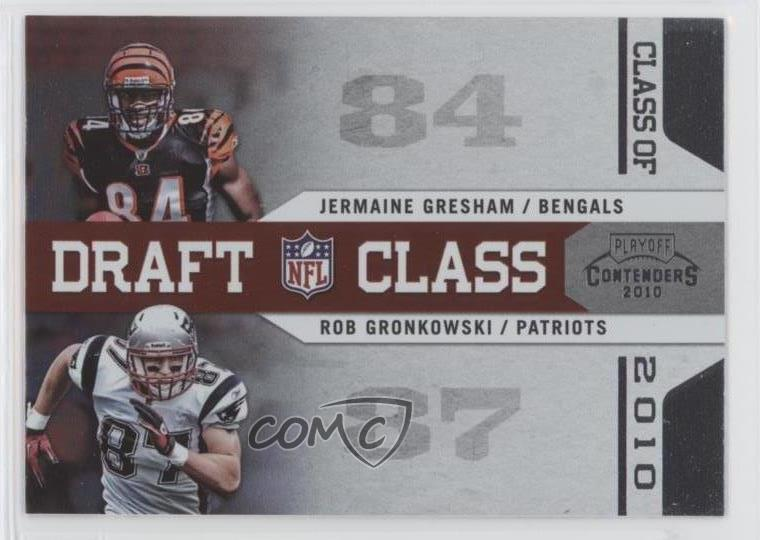 Details About 2010 Playoff Contenders Draft Class 4 Jermaine Gresham Rob Gronkowski Rookie