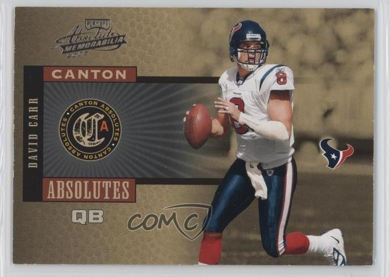 12128c915 2005 Playoff Absolute Memorabilia - Canton Absolutes  CA-4 David Carr.  Representative Image - Select Specific Item above to see image of actual  item