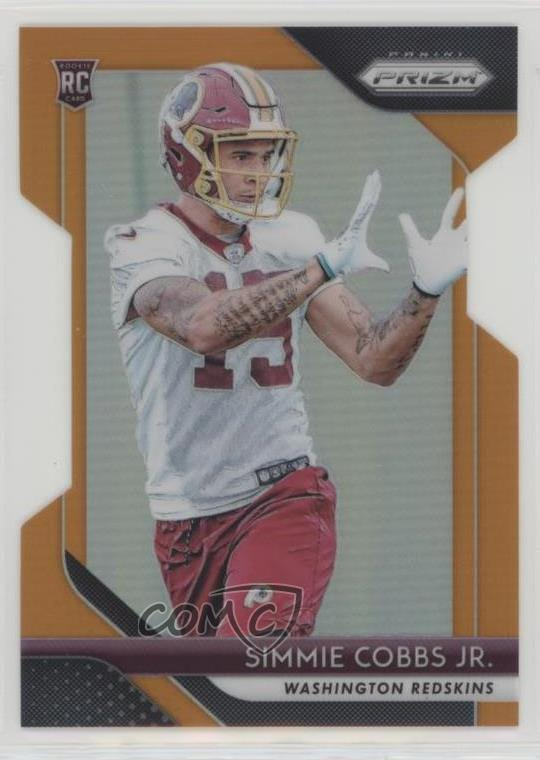 top fashion 082dc 6ad6d Details about 2018 Panini Prizm Orange/249 #298 Simmie Cobbs Jr Rookies  Washington Redskins