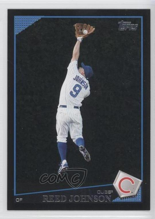 the best attitude b7a5f 2545b Details about 2009 Topps Wal-Mart Black #124 Reed Johnson Chicago Cubs  Baseball Card