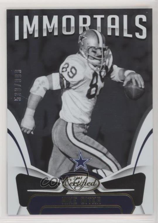 discount 993b4 d8dad Details about 2018 Panini Certified/999 #129 Mike Ditka Immortals Dallas  Cowboys Football Card