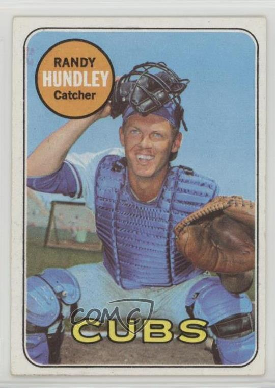 Details About 1969 Topps 347 Randy Hundley Chicago Cubs Baseball Card