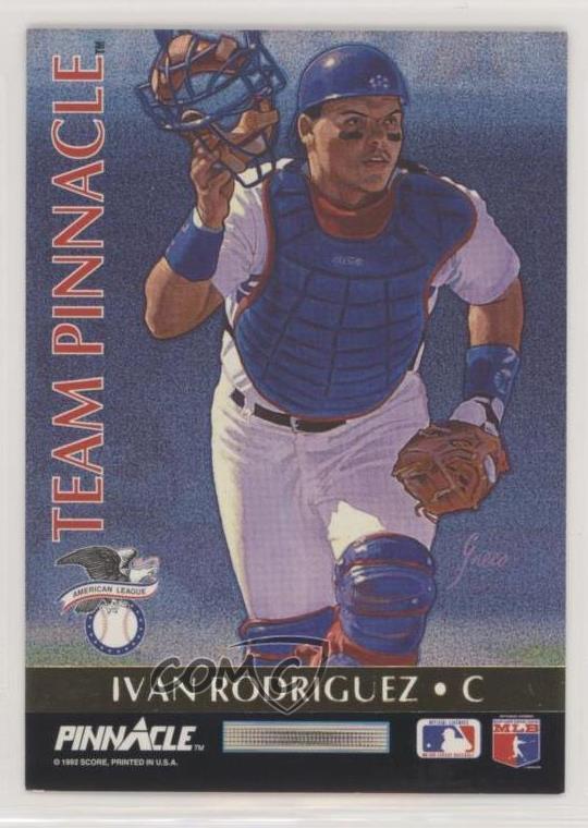 Details About 1992 Pinnacle Team 3 Ivan Rodriguez Benito Santiago Texas Rangers Baseball Card