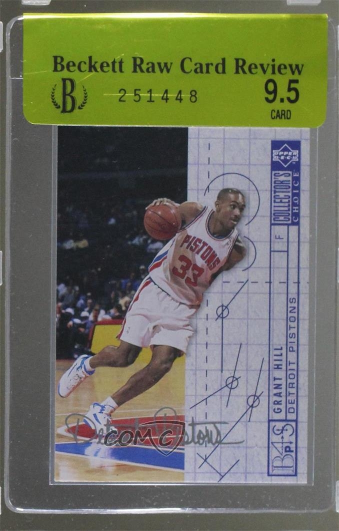 Details About 1994 Upper Deck Collectors Choice Silver Signature 379 Grant Hill Rookie Card