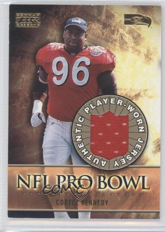 check out 54364 7930a Details about 2000 Bowman Reserve NFL Pro Bowl Jerseys #PB-CK Cortez  Kennedy Seattle Seahawks