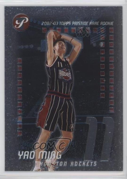 3da33ca0a6db9 Details about 2002-03 Topps Pristine/499 #53 Yao Ming Houston Rockets  Rookie Basketball Card