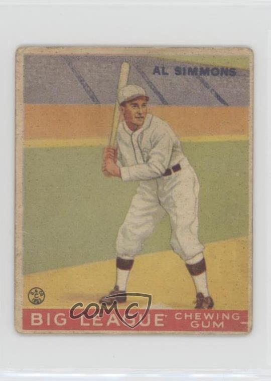 Details About 1933 Goudey Big League Chewing Gum R319 35 Al Simmons Chicago White Sox Card