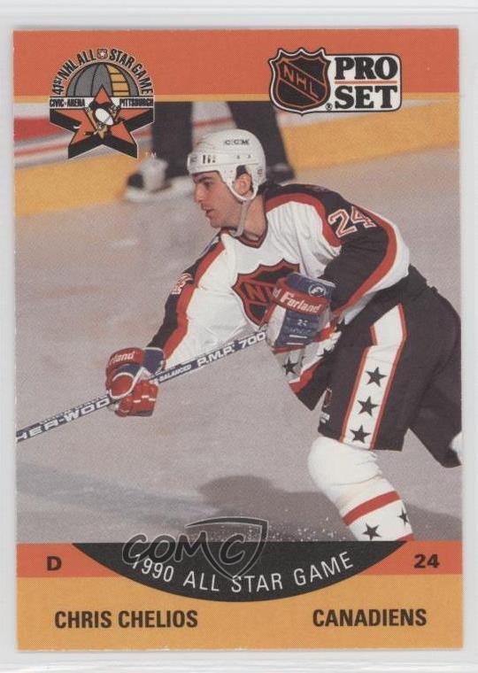 best website 337e2 92c8c Détails : 1990-91 Pro Set #368 Chris Chelios Montreal Canadiens Hockey Card