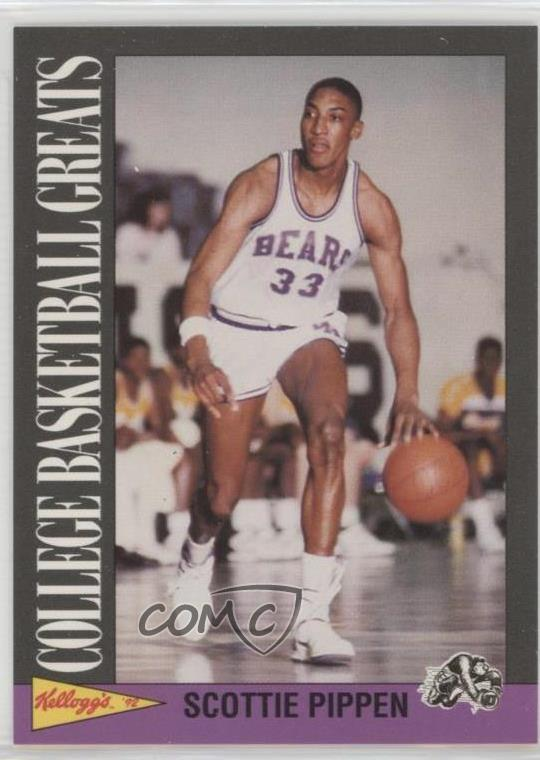 huge selection of fabc3 cde6f Details about 1991-92 Kellogg's College Basketball Greats #17 Scottie  Pippen Card