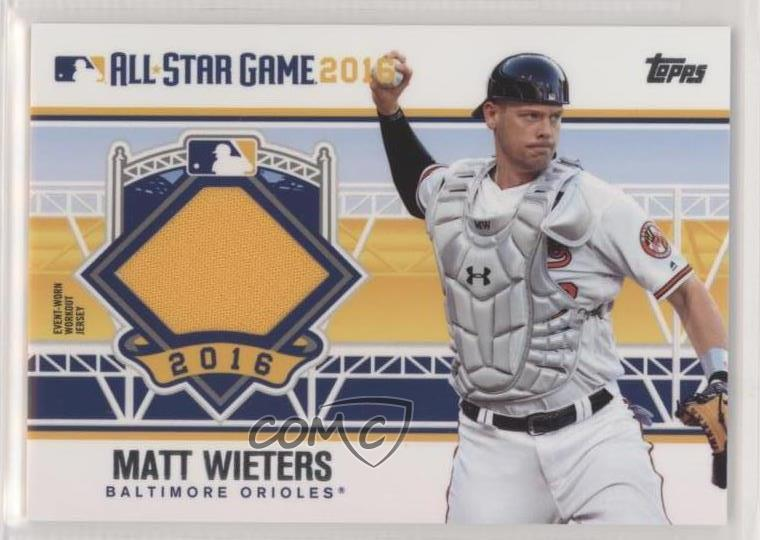 Details About 2016 Topps Update Series All Star Stitches Astit Mw Matt Wieters Baseball Card