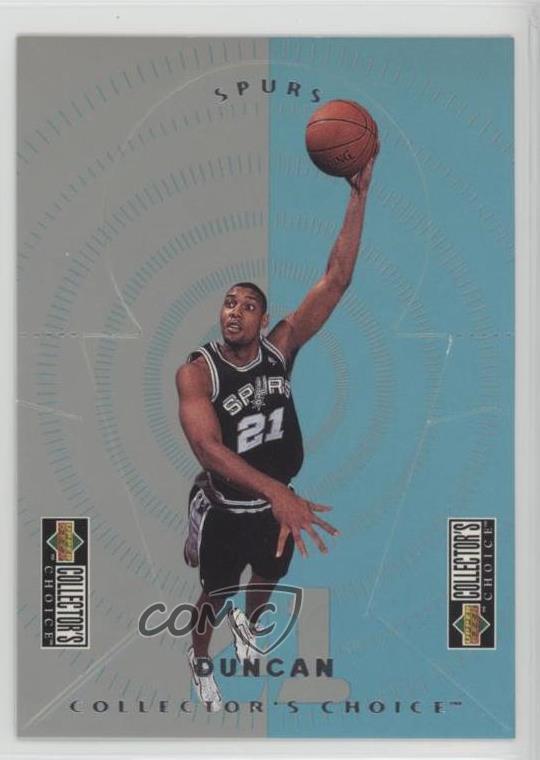 Details About 1997 98 Upper Deck Collectors Choice Nba Miniatures M24 Tim Duncan Rookie Card