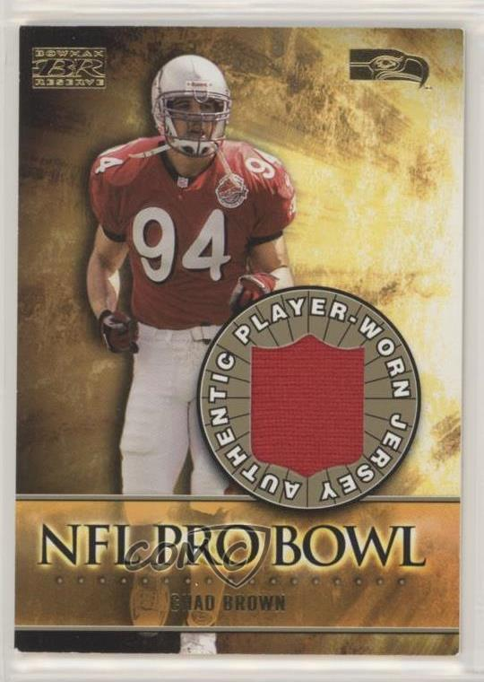 differently 8bba3 2d7bf Details about 2000 Bowman Reserve NFL Pro Bowl Jerseys #PB-CB Chad Brown  Seattle Seahawks Card