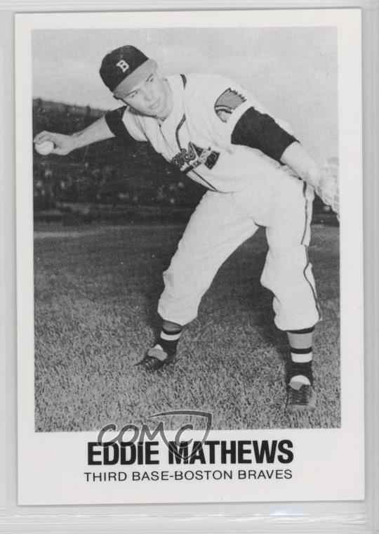 Details About 1977 1977 84 Tcma Renata Galasso 34 Eddie Mathews Boston Braves Baseball Card