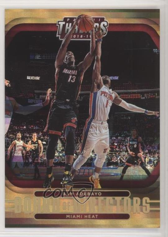 Details about 2018-19 Panini Threads Board of Directors Premium Gold/10 #14  Bam Adebayo Card