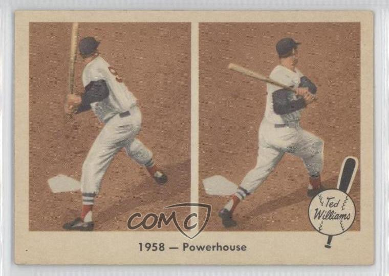 Details About 1959 Fleer 66 Ted Williams 1958powerhouse Boston Red Sox Baseball Card