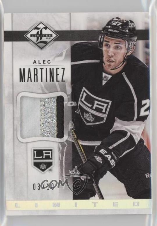 meet 0da69 7bf70 Details about 2012 Panini Limited Jerseys Patch/10 #LJ-MZ Alec Martinez Los  Angeles Kings Card