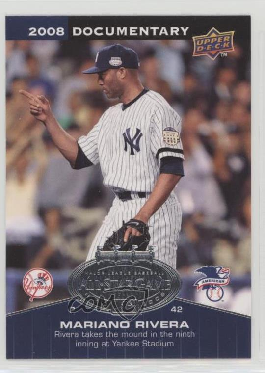 Details About 2008 Upper Deck Documentary All Star Game Asg Ri Mariano Rivera Baseball Card