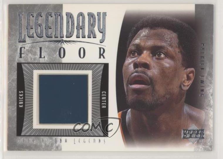 2000-01 Upper Deck NBA Legends Legendary Floor Patrick Ewing #PE-F HOF