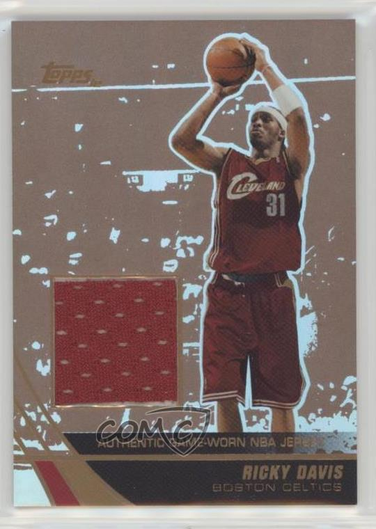 size 40 7a54e 10f22 Details about 2003 Topps Jersey Edition Copper/99 #jeRD Ricky Davis  Cleveland Cavaliers Card
