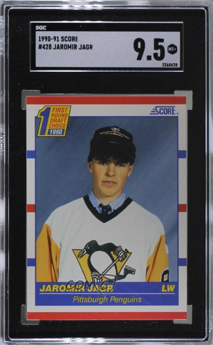 Details About 1990 91 Score 428 Jaromir Jagr Sgc 95 Mint Pittsburgh Penguins Rc Rookie Card