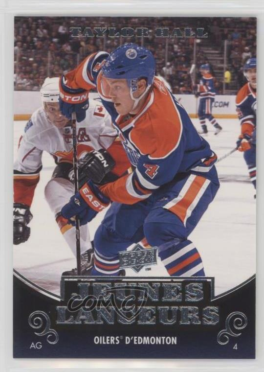 Details About 2010 11 Upper Deck French 219 Taylor Hall Edmonton Oilers Rookie Hockey Card