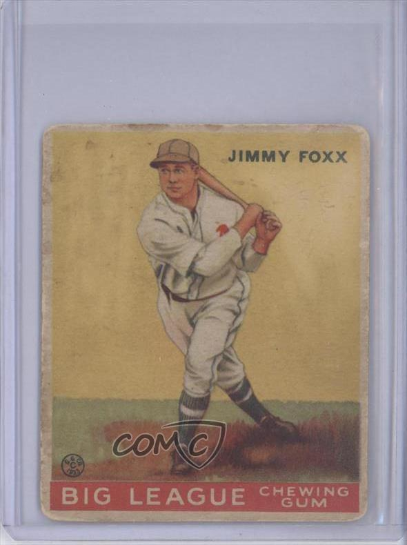 Details About 1933 Goudey Big League Chewing Gum R319 29 Jimmie Foxx Rc Rookie Baseball Card