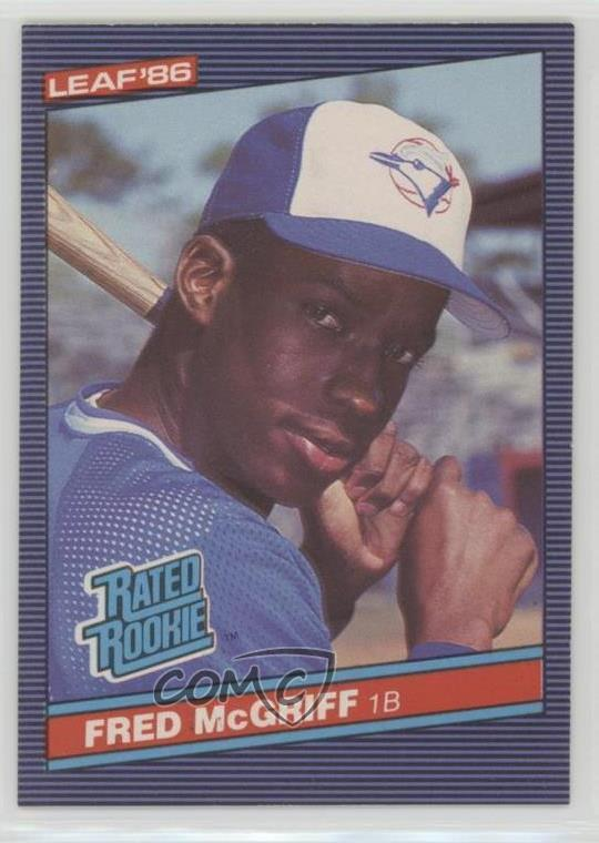 Details About 1986 Leaf Canadian 28 Fred Mcgriff Toronto Blue Jays Rc Rookie Baseball Card