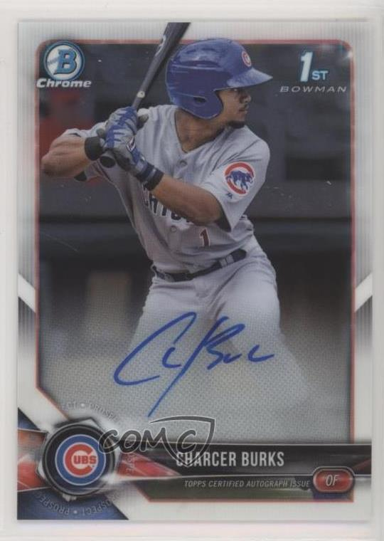 Autographs-original Charcer Burks Chicago Cubs Rookie Autographed New Minor League Ball # 4