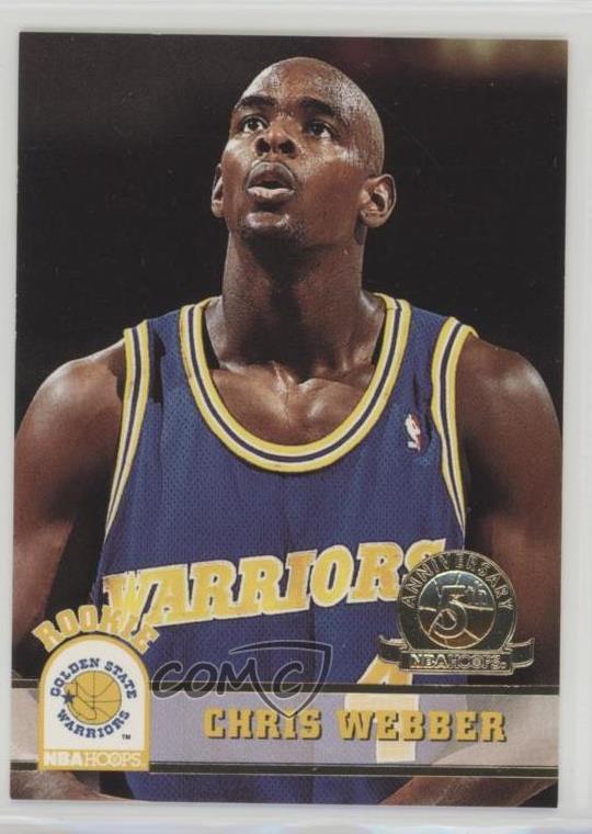 1993-94 NBA Hoops 5th Anniversary #341 Chris Webber Golden State Warriors Card