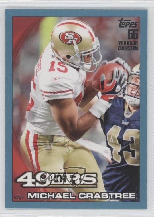 Gold Michael Crabtree 2010 Topps, //2010 Football Card !!