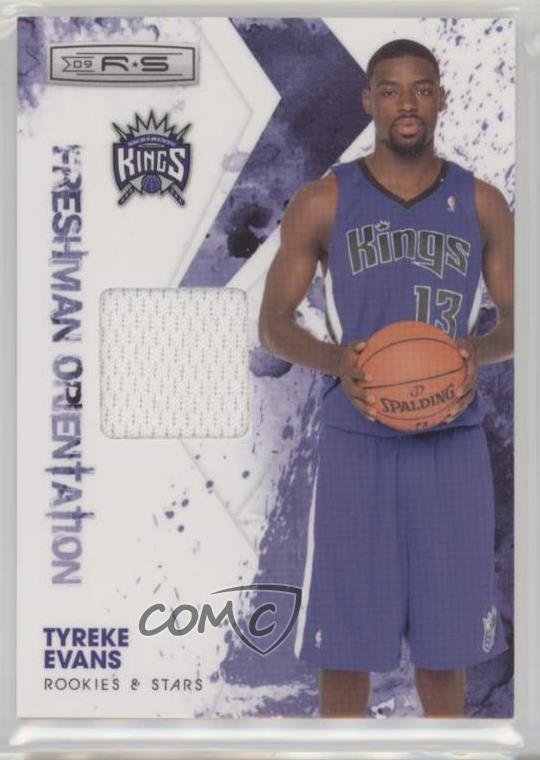 2009-10 Panini Rookies   Stars - Freshman Orientation Materials  4 Tyreke  Evans. Representative Image - Select Specific Item above to see image of  actual ... 05534dacf