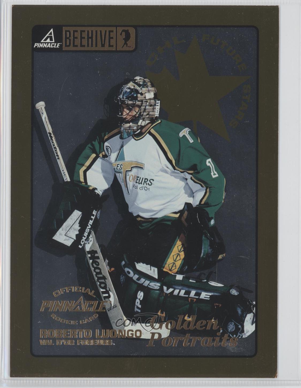 1997 98 Pinnacle Beehive Golden Portraits 69 Roberto Luongo Rookie