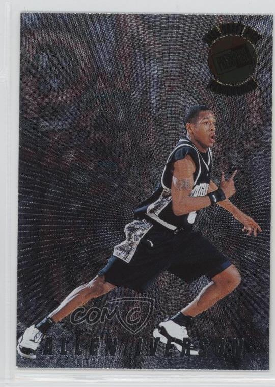 Details About 1996 97 Press Pass Pandemonium Pm7 Allen Iverson Georgetown Hoyas Rookie Card