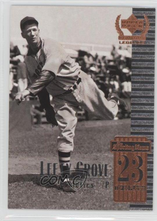 Details About 1999 Upper Deck Century Legends 23 Lefty Grove Oakland Athletics Baseball Card