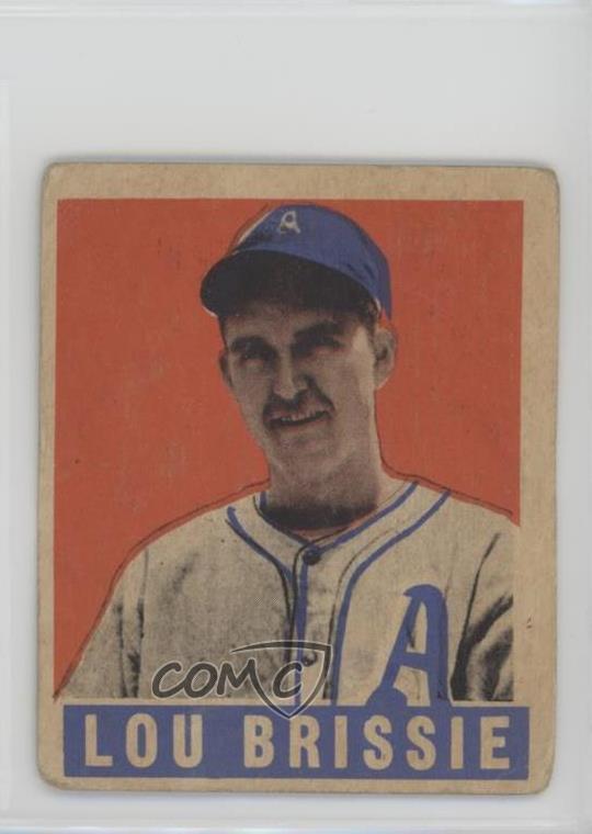 Details About 1948 Leaf 31 Lou Brissie Philadelphia Athletics Rc Rookie Baseball Card