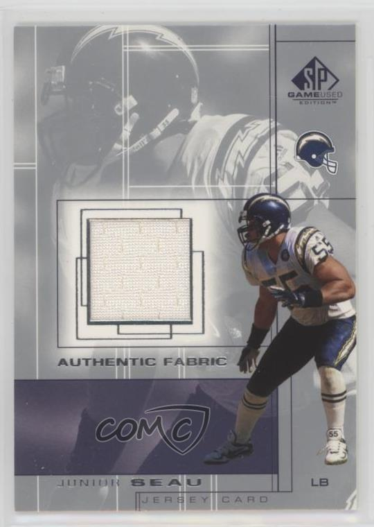Details about 2001 SP Game Used Edition Authentic Fabric #JS Junior Seau  San Diego Chargers