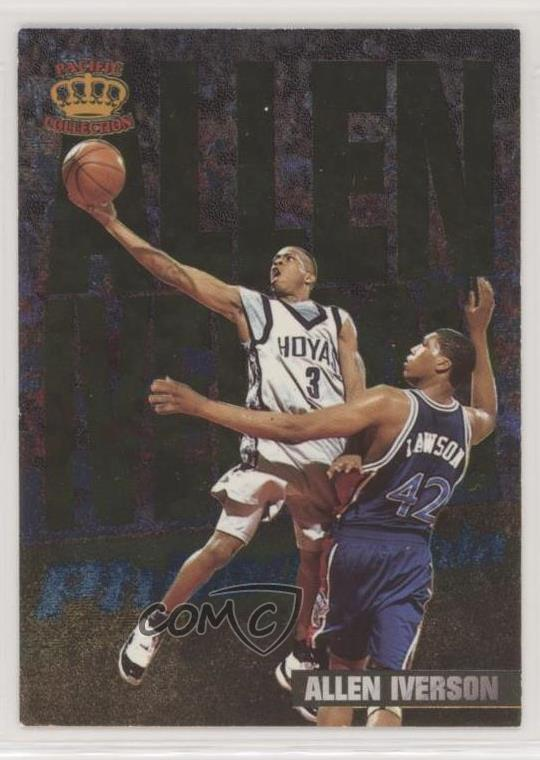 Details About 1996 Pacific Power In The Paint Ip 8 Allen Iverson Georgetown Hoyas Rookie Card