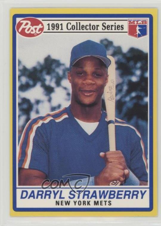 Details About 1991 Post Cereal 7 Darryl Strawberry New York Mets Baseball Card