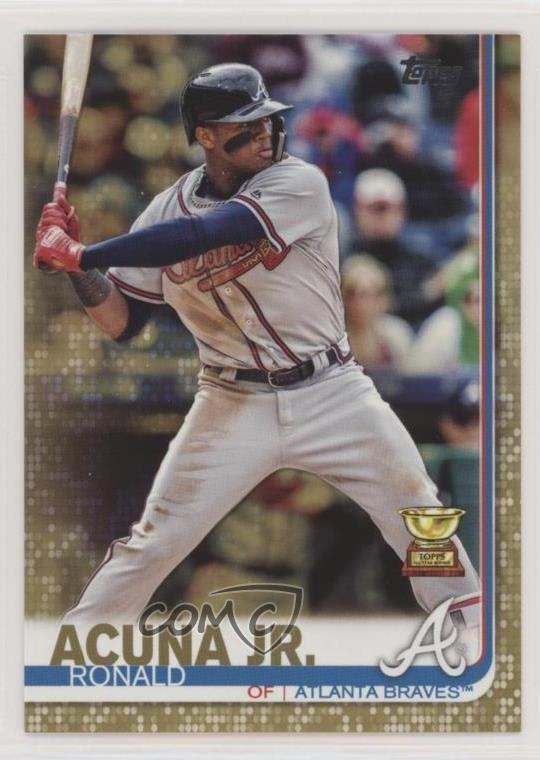 Details About 2019 Topps Gold2019 1 Ronald Acuna Jr Atlanta Braves Baseball Card