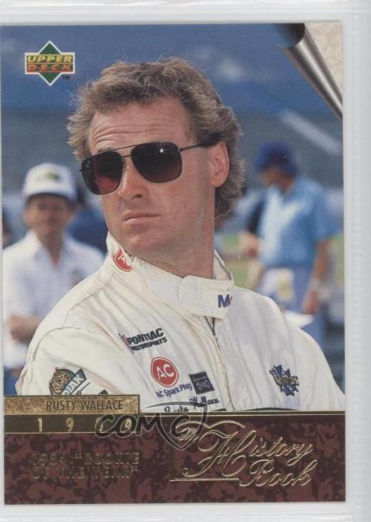 1996 upper deck 136 rusty wallace racing card 3a3 ebay. Black Bedroom Furniture Sets. Home Design Ideas