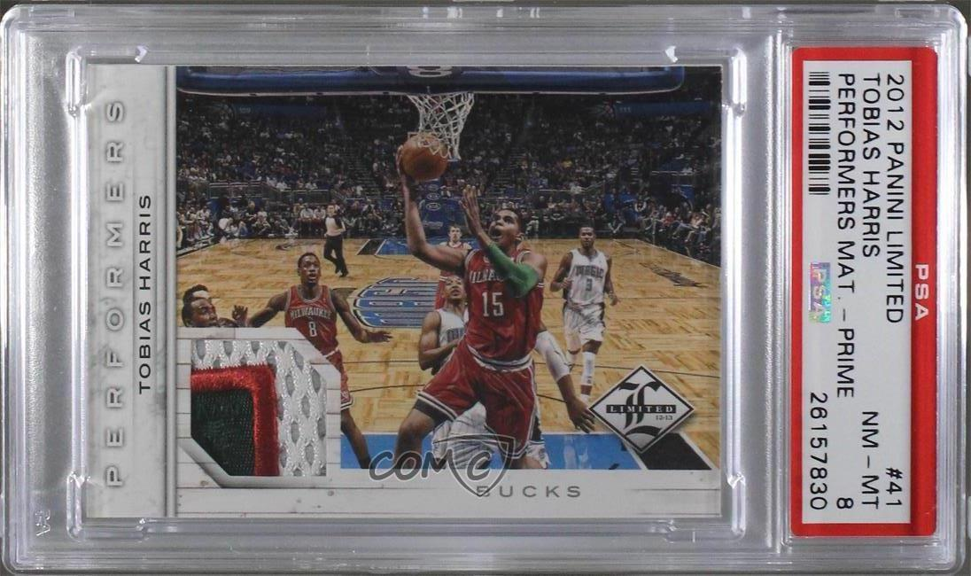 Verzamelkaarten: sport 2012 Limited Performers Materials #41 Tobias Harris Milwaukee Bucks Rookie Card