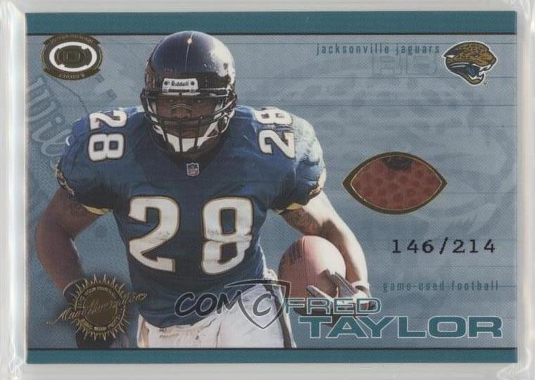 0e0ca39b 2001 Pacific Dynagon - Game-Used Footballs #11 Fred Taylor. Representative  Image - Select Specific Item above to see image of actual item