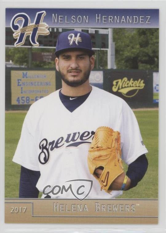 Details About 2017 Grandstand Helena Brewers 34 Nelson Hernandez Rookie Baseball Card