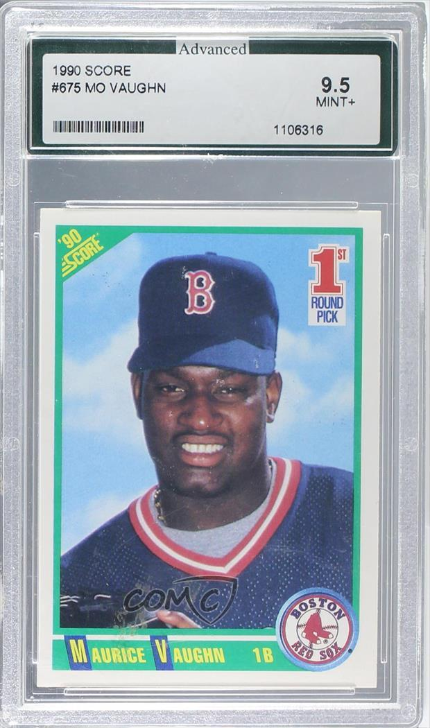 Details About 1990 Score 675 Mo Vaughn Maurice Other Encased Boston Red Sox Rc Rookie Card