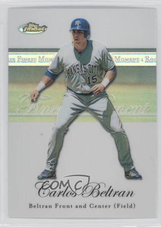 Details About 2007 Topps Finest Rookie Moments Refractor Rfm Cb Carlos Beltran Baseball Card