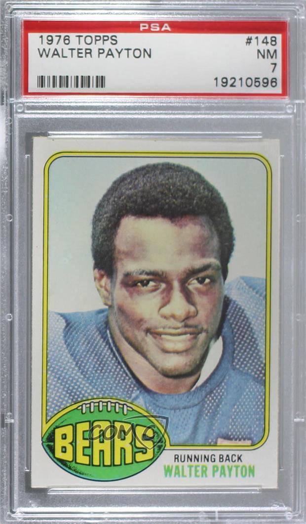 Details About 1976 Topps 148 Walter Payton Psa 7 Nm Chicago Bears Rc Rookie Football Card