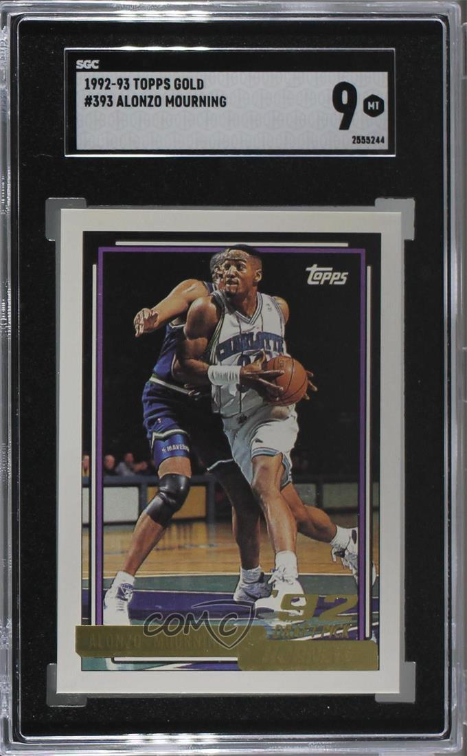 Details About 1992 93 Topps Gold 393 Alonzo Mourning Sgc 9 Mint Charlotte Hornets Rookie Card