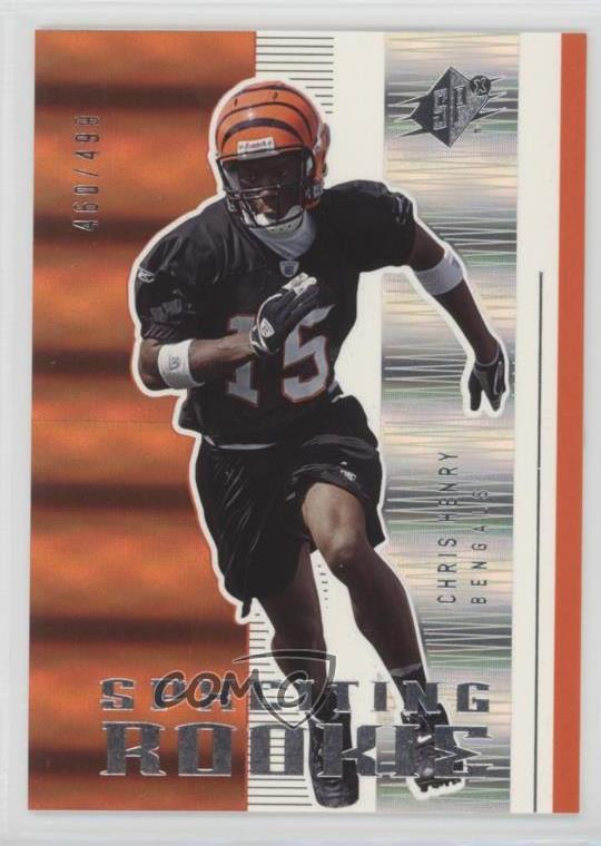 2005 SPx #198 Chris Henry Cincinnati Bengals Rookie Football Card | eBay