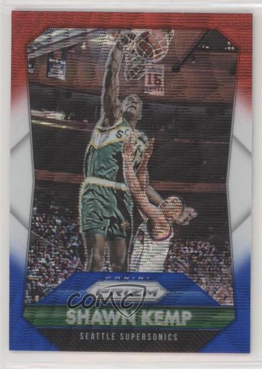 Verzamelingen 2015 Panini Prizm Light Blue #270 Shawn Kemp Seattle Supersonics Basketball Card